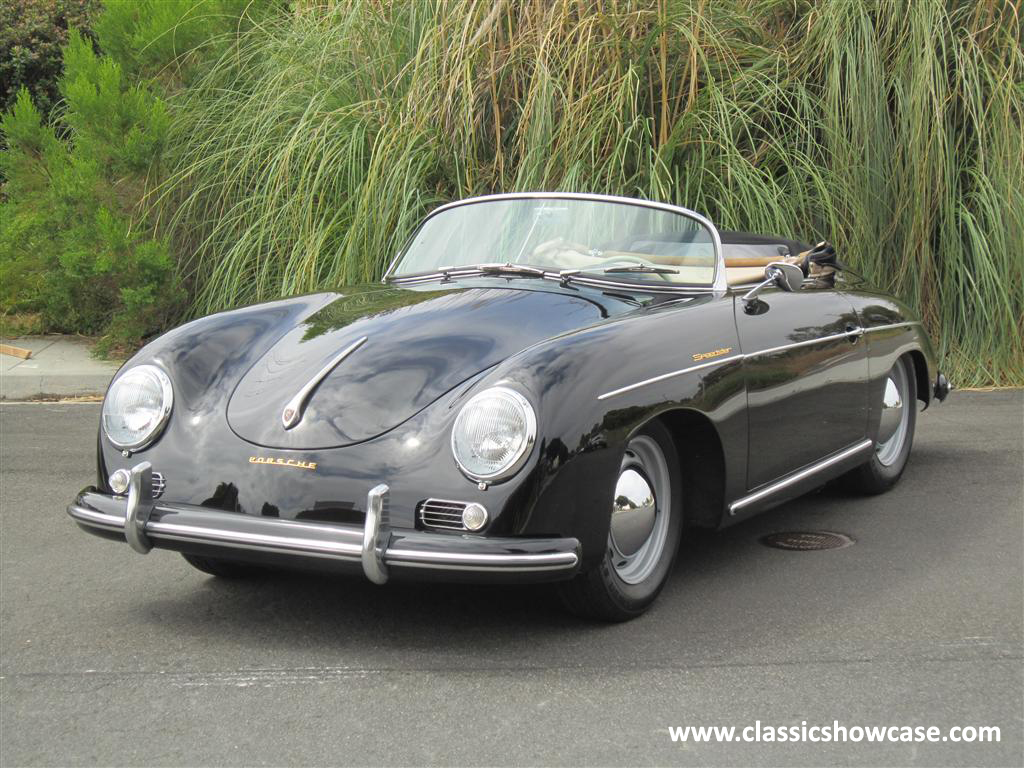 1955 porsche 356 pre a speedster by classic showcase. Black Bedroom Furniture Sets. Home Design Ideas
